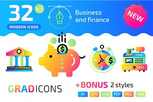 32+ Business & finance : : GRADICONS