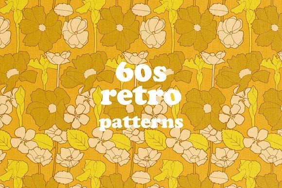 40s Retro Pattern Prints Graphic Patterns Creative Market Unique 60s Patterns