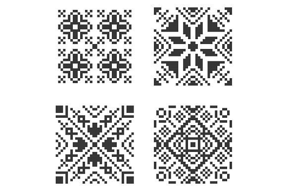 Pixel Seamless Pattern Big Set