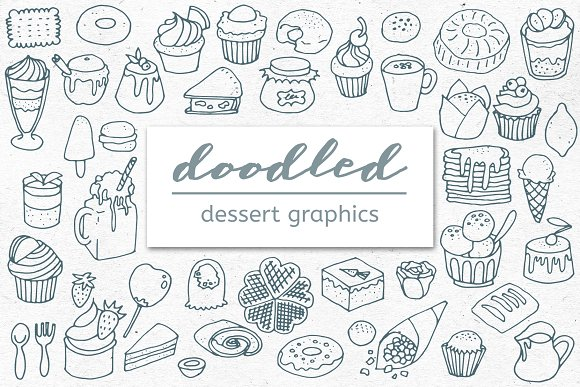 Doodled Desserts Treats And Sweets
