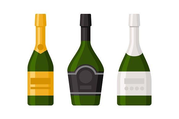 Champagne Bottles Set