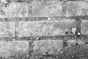 Briick Floor Gravel in Black White