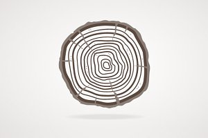 Vector tree rings. Flat Design