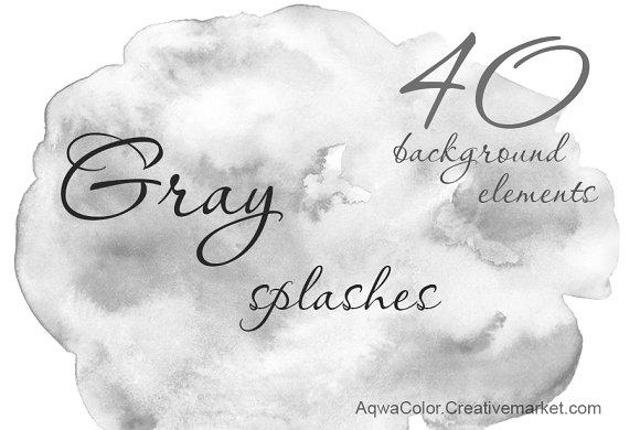 Gray Splashes Background