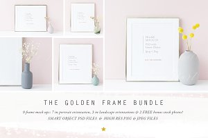 The Golden Frame mock up BUNDLE