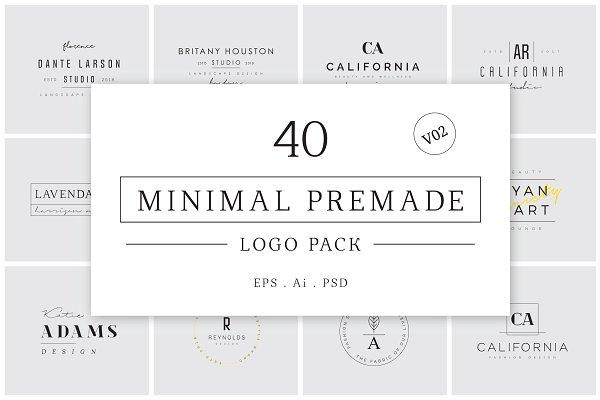 Logo Templates - Minimal Premade Logo Bundle V02