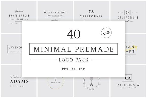 Minimal Premade Logo Bundle V02