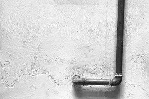 Plumbing  in White Wall Black White