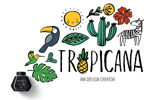 Tropical ink design creator