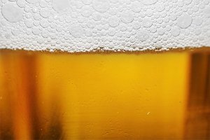 close-up on beer