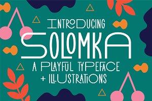 Solomka - Sans Condensed Typeface