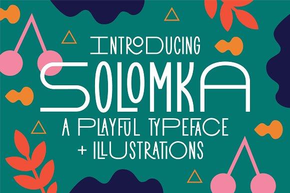 Solomka Sans Condensed Typeface