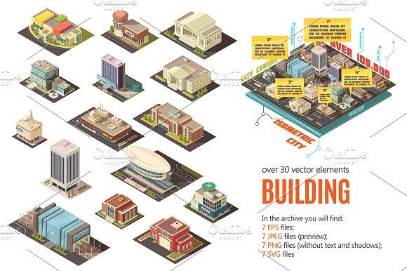 City Buildings Isometric Set