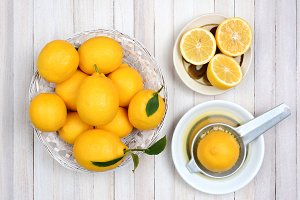 Squeezing Lemons Still Life
