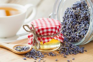 Honey and lavender tea.
