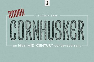 Cornhusker Rough | Condensed Font