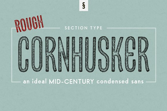 Cornhusker Rough Condensed Font