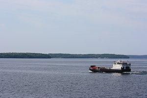 Ferry on Lake Michigan