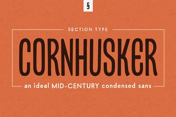 Cornhusker Regular Condensed Font