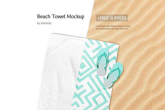 Beach Towel Mockup-Graphicriver中文最全的素材分享平台