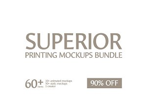Superior Printing Mockups Bundle