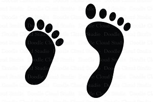 Baby & Adult Foot SVG files