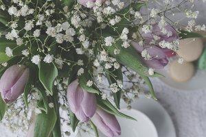 Lavender Tulip Flatlay