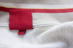 label red clothes, woolen pullover,