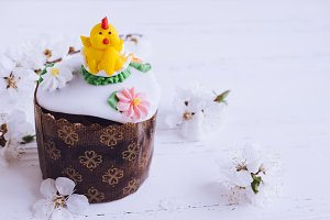 Traditional Ukrainian Easter cake