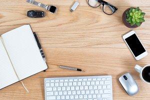 Circle of Technology on Oak Desktop