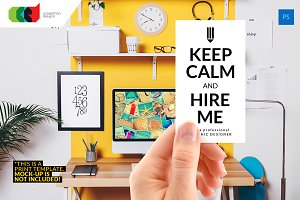 Keep Calm - Designer Biz Card 51