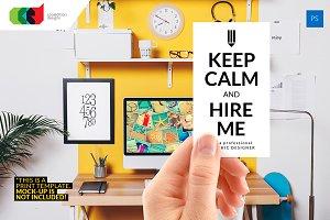 Keep Calm - Designer Biz Card 51