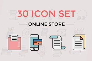 30 Icon Set Online Store