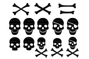 Skull and Cross Bones SVG files