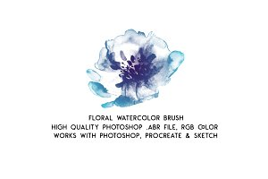 Watercolor Floral Brush