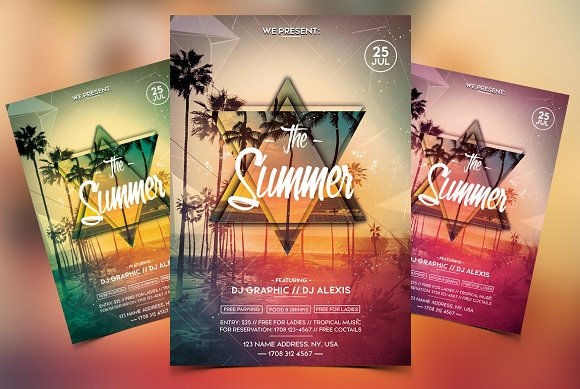 The Summer Party PSD Flyer