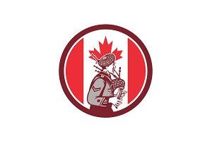 Canadian Bagpiper Canada Flag Icon