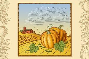 Landscape With Pumpkins