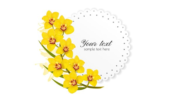 Beautiful Gift Card With Flower