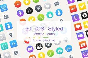 60 iOS Style Vector Icons