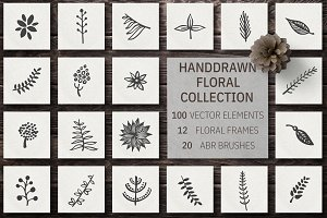 Hand Drawn Floral Collection Vol.2