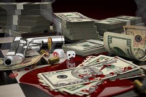 Blood, money and smoking gun
