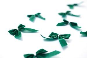 Green velvet bows