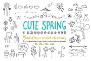 Cute spring vector elements part 1.