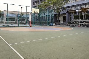 Basket ball field outdoor park