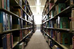 Blurred Library doctrine window ligh