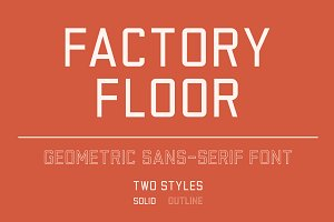 Factory Floor Font - Two Styles