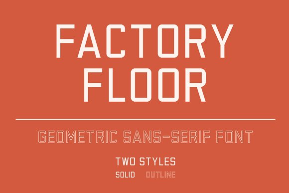 Factory Floor Font Two Styles