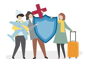 People with travel insurance