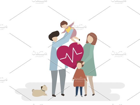 Illustration Of Family Healthcare